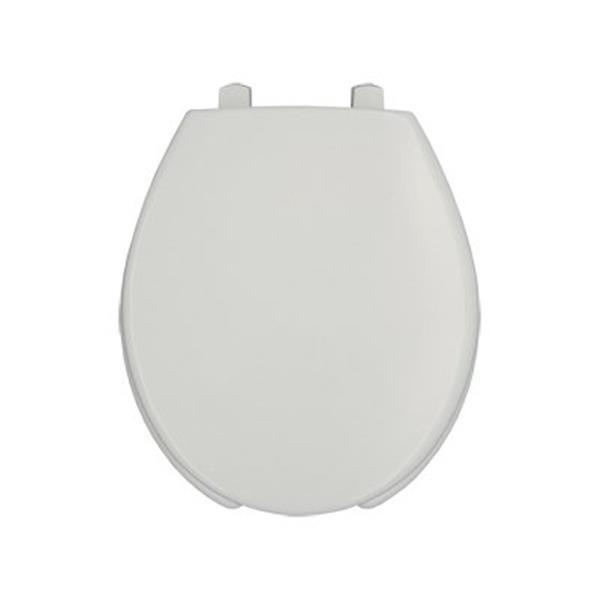 Bemis Open Front Round Plastic Whte Toilet Seat Cover