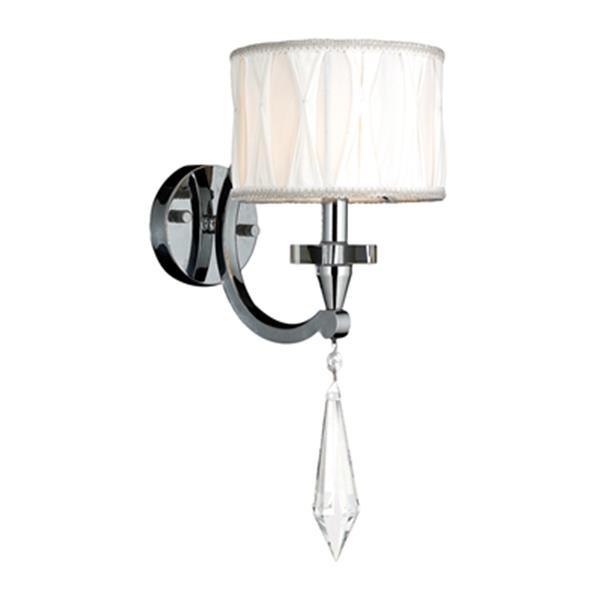 Worldwide Lighting Cutlass Collection Polished Chrome Single Light Wall Sconce