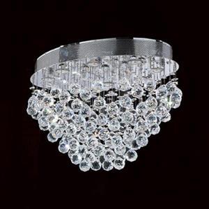 Worldwide Lighting 8-Light Icicle Oval Flush Mount Ceiling Light