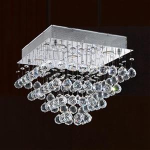 Worldwide Lighting 5-Light Icicle Flush Mount Ceiling Light