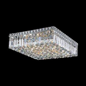 Worldwide Lighting Cascade Square Crystal Flush Mount Ceiling Light