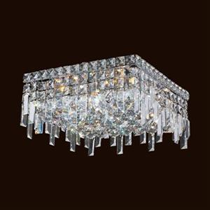 Worldwide Lighting Cascade Crystal Flush Mount Ceiling Light