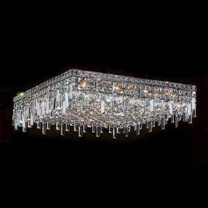 Worldwide Lighting Cascade Crystal Flush Mount Ceiling Light