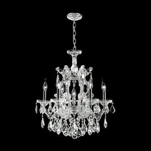 Worldwide Lighting Empire 25-in Polished Chrome 7-Light Crystal Chandelier