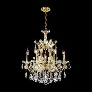Worldwide Lighting Empire 25-in Gold 7-Light Crystal Chandelier
