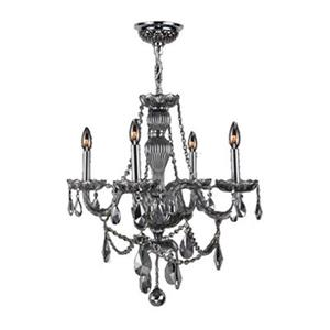 Worldwide Lighting Provence 31-in Smoke 4-Light Chandelier