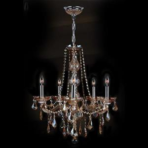 Worldwide Lighting Provence 5-Light Chandelier,W83104C21-AM