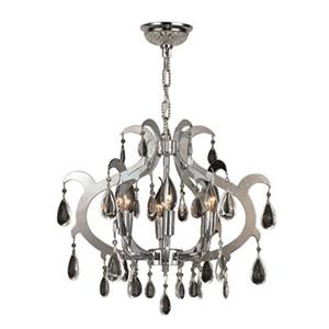 Worldwide Lighting Henna Collection 72-in Polished Chrome 6-Light Crystal Chandelier
