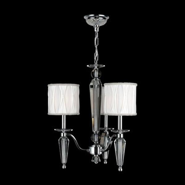 Worldwide Lighting Gatsby Collection 72-in Polished Chrome 3-Light Chandelier