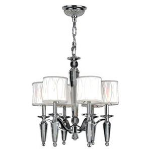 Worldwide Lighting Gatsby Collection 72-in Polished Chrome 6-Light Chandelier