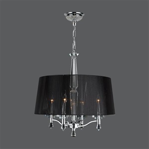 Worldwide Lighting Gatsby Collection 72-in Polished Chrome 4-Light Chandelier