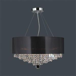 Worldwide Lighting Gatsby 8-Light Polished Chrome Large Pendant Light