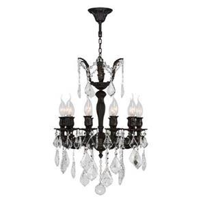 Worldwide Lighting Versailles Collection 72-in Flemish Brass 10-Light Crystal Chandelier