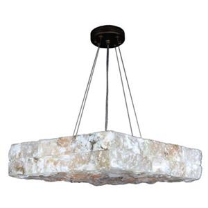 Worldwide Lighting Pompeii 5-Light Flemish Brass Large Square Pendant Light
