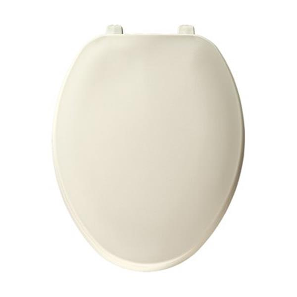Bemis Elongated Off-White Plastic Toilet Seat