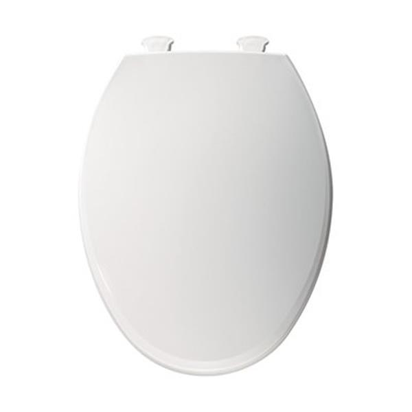 Astonishing Bemis Elongated Easy Clean And Change Hinge White Plastic Toilet Seat Dailytribune Chair Design For Home Dailytribuneorg
