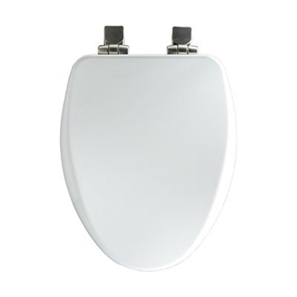 Bemis Elongated High Density&trade Molded Wood Off-White Toilet Seat