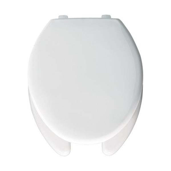 Bemis Elongated Commercial Plastic White Toilet Seat