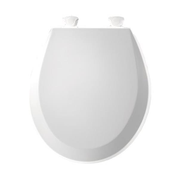 Bemis Round Molded Wood White Toilet Seat