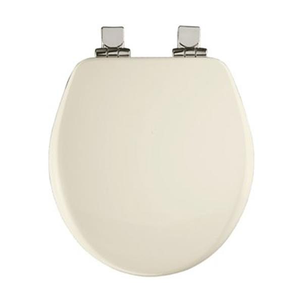 Bemis Round High Density Closed Front With Cover Molded Wood White Toilet Seat