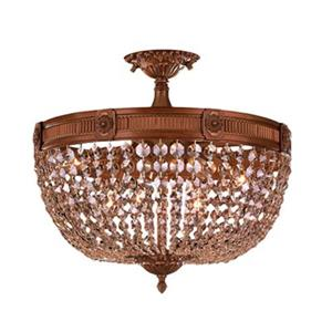 Worldwide Lighting Winchester 20-in French Gold Semi Flush Mount Ceiling Light