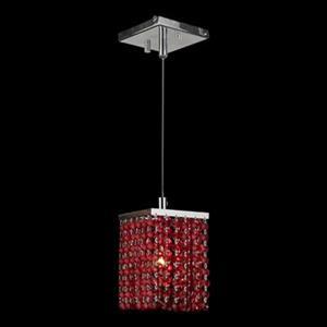 Worldwide Lighting 1-Light Prism Polished Chrome Square Mini Pendant Light