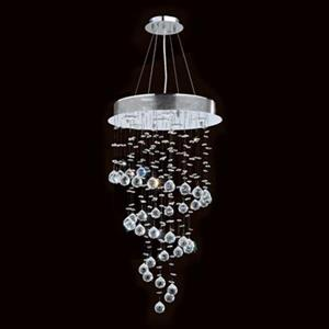 Worldwide Lighting Helix Collection 48-in Polished Chrome 6-Light Crystal Galaxy Dual Mount Chandelier