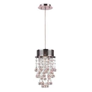 Worldwide Lighting 1-Light Icicle Crystal Mini Pendant Light
