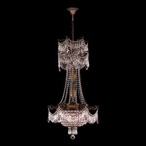 Worldwide Lighting Winchester Collection 72-in Antique Bronze Clear 3-Light Crystal Chandelier