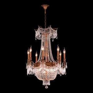 Worldwide Lighting Winchester Collection 72-in French Gold Clear 12-Light Chandelier