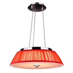 Worldwide Lighting Alice Polished Chrome LED Drum Pendant Light