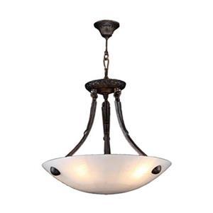 Worldwide Lighting Pompeii 16-in Flemish Brass Bowl Pendant Light