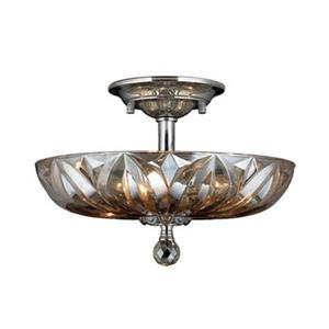 Worldwide Lighting Mansfield 4-Light 16-in Polished Chrome Semi Flush Mount Ceiling Light