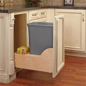 Rev-A-Shelf 35-qt Grey Pull Out Waste Container