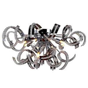 Worldwide Lighting Medusa 22-in Polished Chrome Flush Mount Ceiling Light