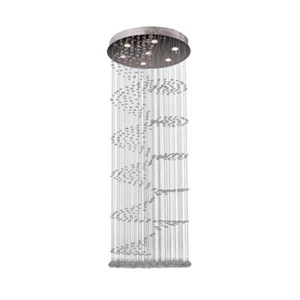 Worldwide Lighting Helix 24-in Polished Chrome Pendant Light