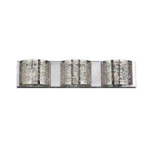 Worldwide Lighting Aramis Collection Polished Chrome 3-Light Wall Sconce