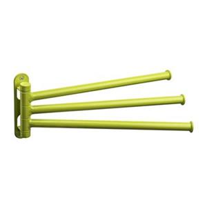 Taymor Chroma 12-in Modern Green 3-Arm Pivoting Towel Bar