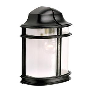 SNOC Evolution 11.12-in Black Wall Mounted Outdoor Sconce