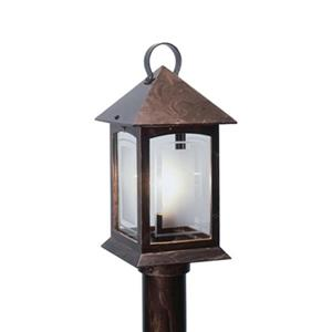 SNOC Heritage 15-in Antique Copper Aluminum 1 Light Post Mounted Outdoor Light