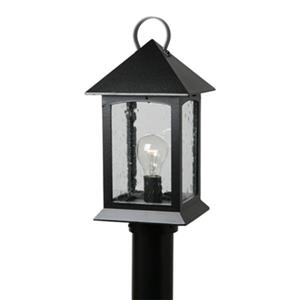 SNOC Heritge 15-in Black Aluminum 1 Light Post Mounted Outdoor Light