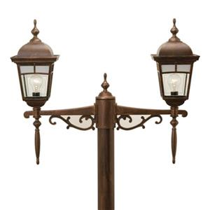 SNOC Imagine 25-in Antique Copper Aluminum 2 Light Post Mounted Multihead Outdoor Light