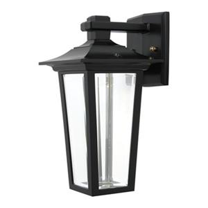SNOC Jazz 11.62-in Black Wall Mounted Outdoor Light