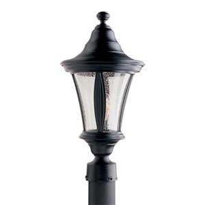 SNOC Oriorn 19-in Black Aluminum 1 Light Post Mounted Outdoor Light