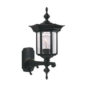 SNOC Royal 17-in Black Wall Mounted Outdoor Sconce