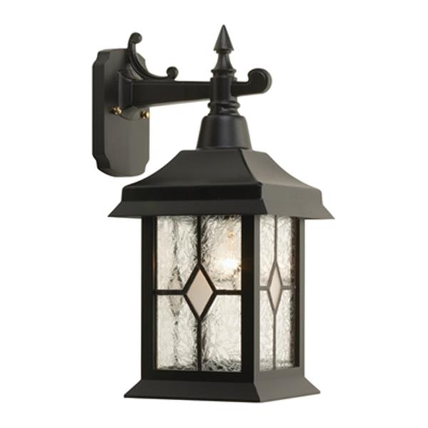 SNOC Victoria 16.75-in Black Wall Mounted Outdoor Sconce