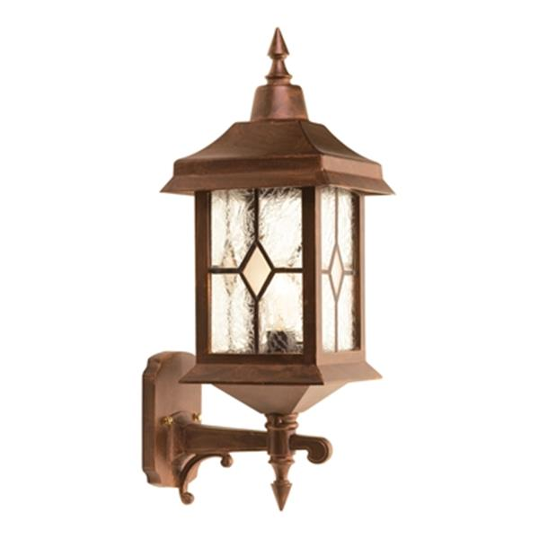 SNOC Victoria 21-in Antique Copper Wall Mounted Outdoor Sconce