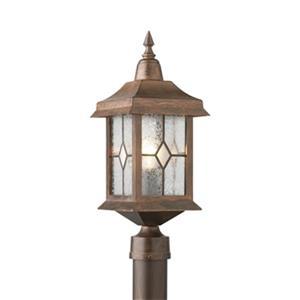 SNOC Victoria 19.5-in Antique Copper post Mount Outdoor Light