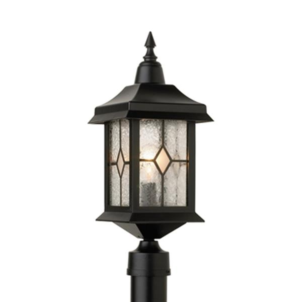 SNOC Victoria 19.5-in Black Post Mount Outdoor Light