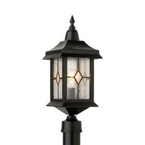 SNOC Victoria 19.5-in Black Post Mount Outdoor Light